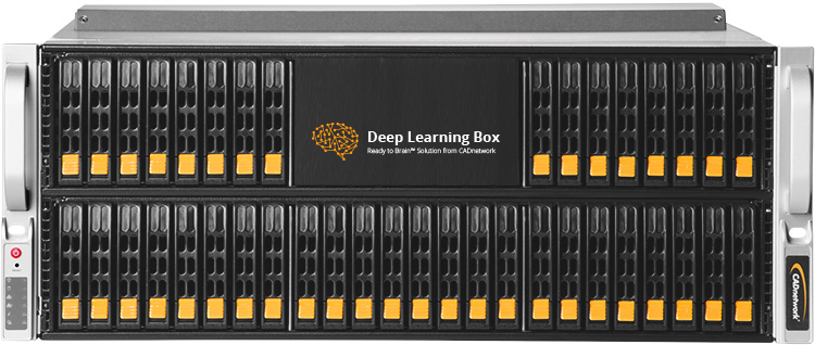 CADnetwork Deep Learning Box Rack 8GPU for Tensorflow and Caffe